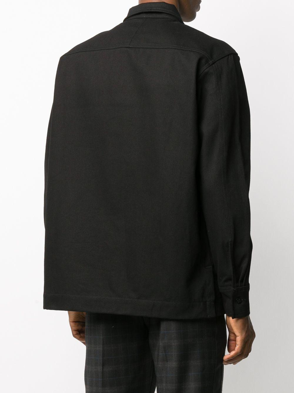 Etudes Studio Denim Overhemd Met Logopatch in het Zwart voor heren