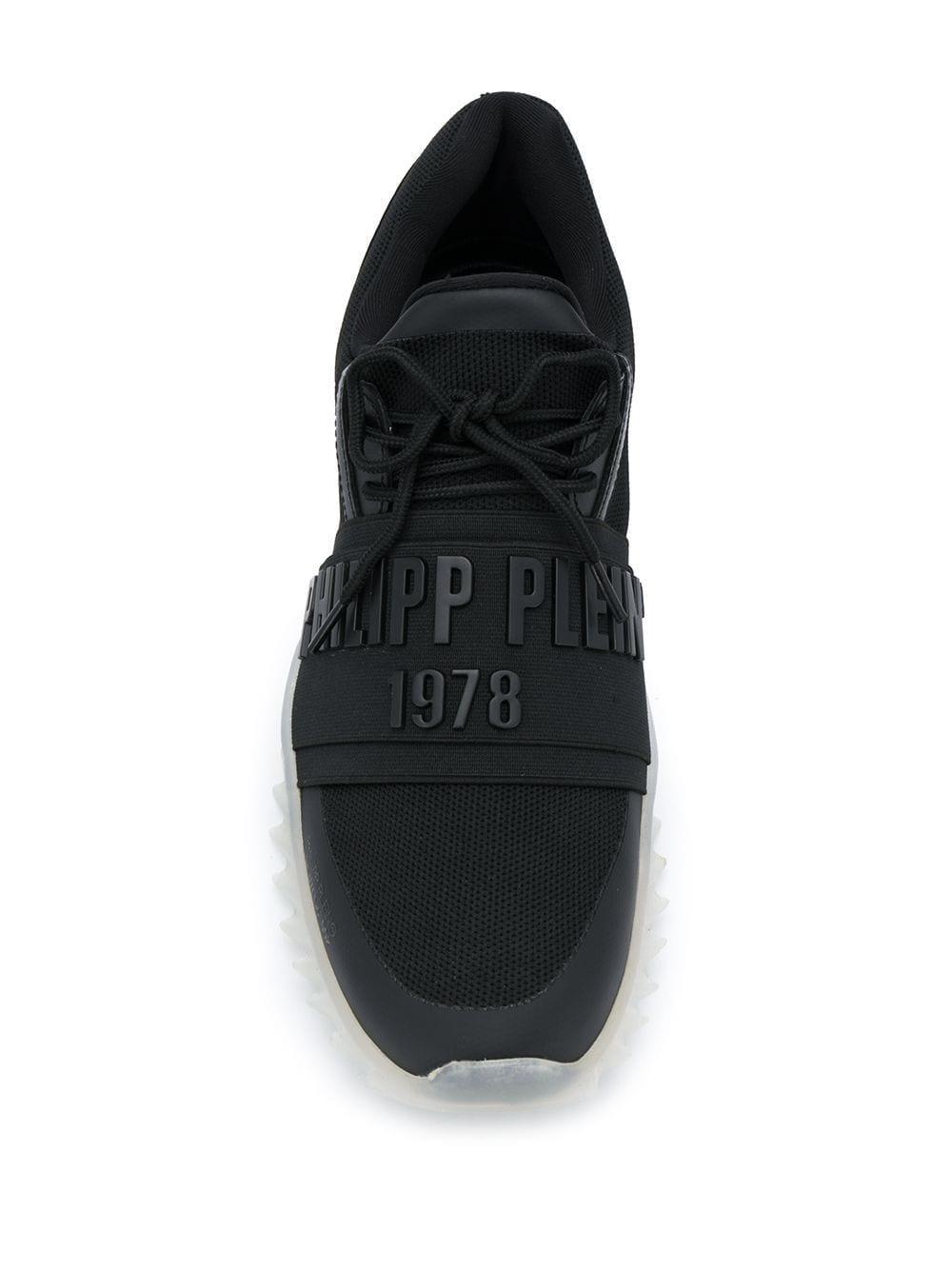 Philipp Plein Synthetisch Sneakers Met Logo in het Zwart voor heren