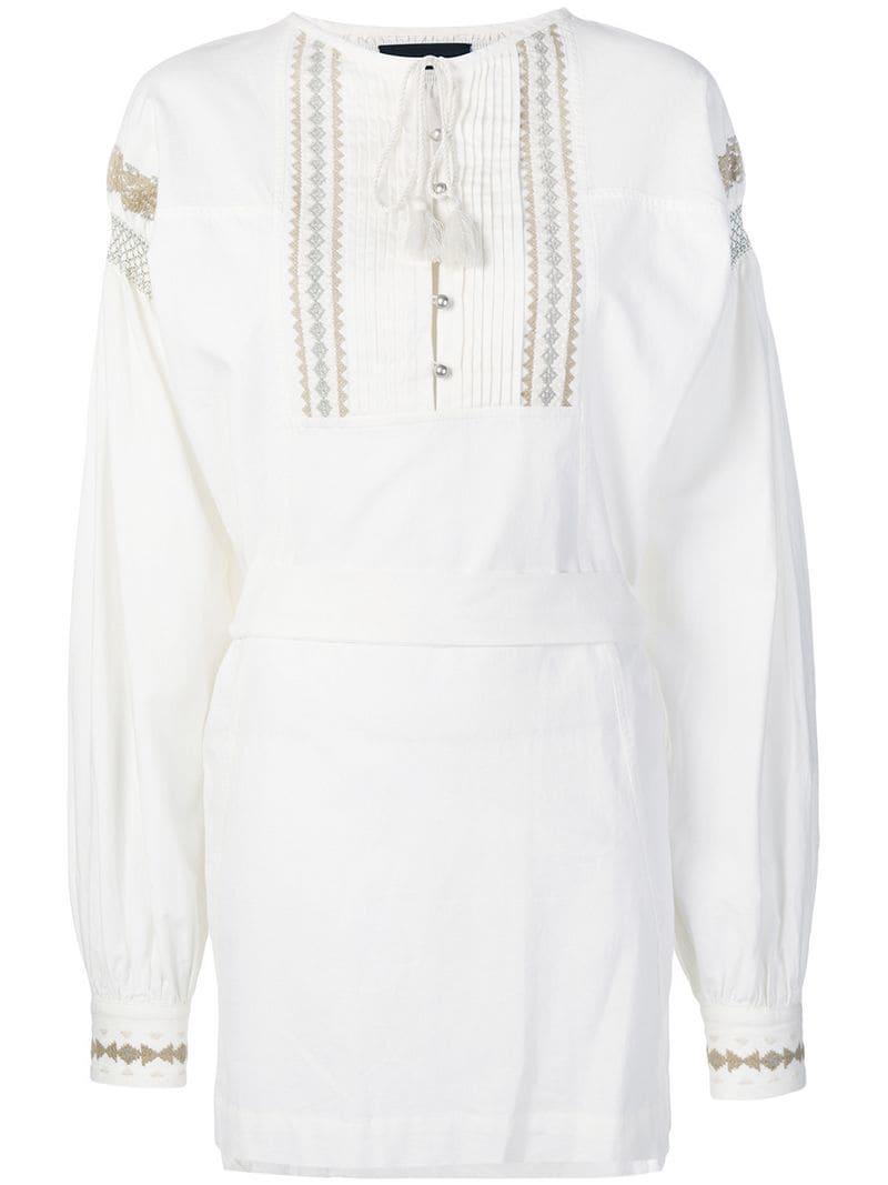Lyst - Diesel Black Gold Long-sleeved Mini Dress in White 3311606a6