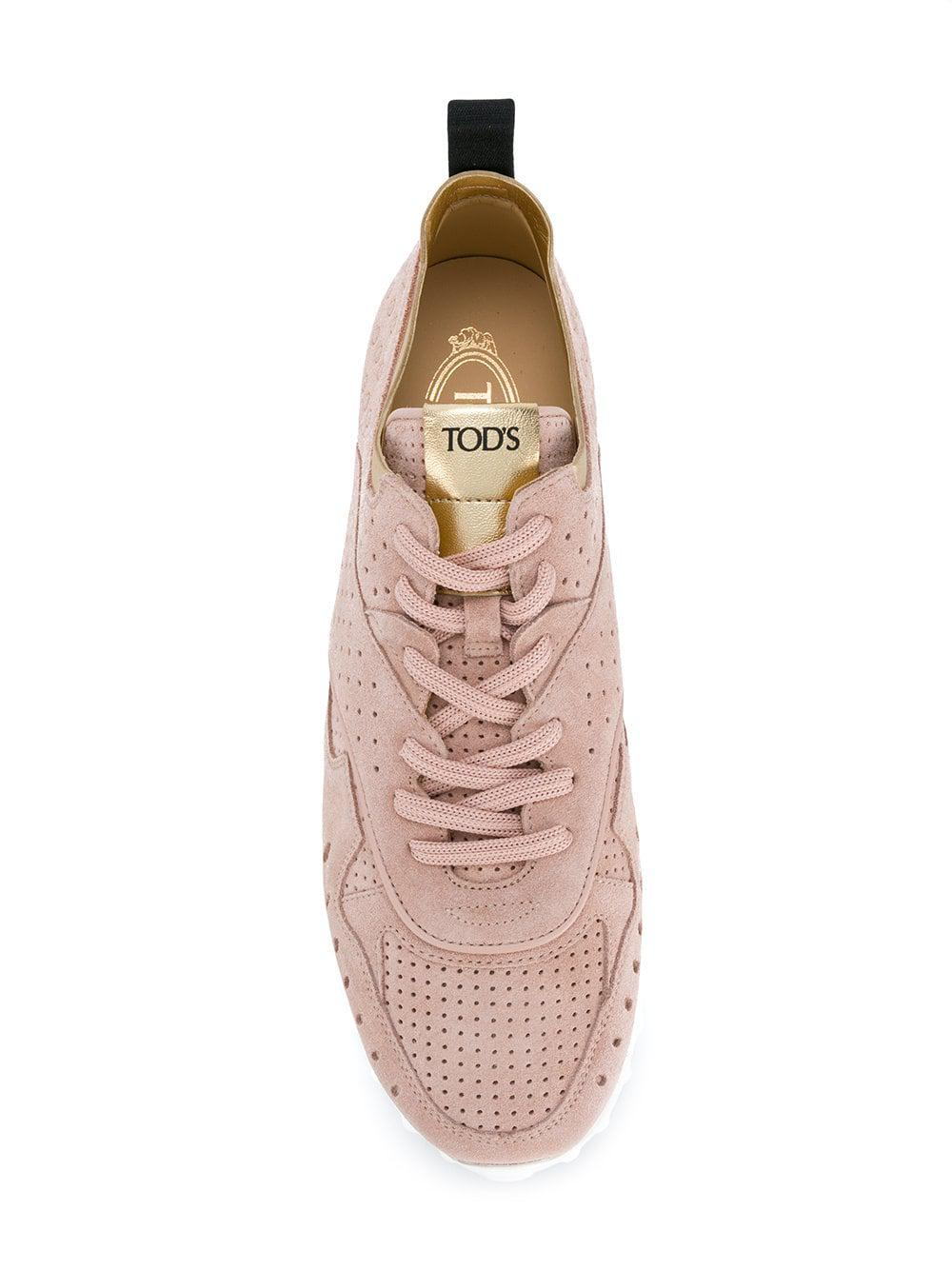 Tod's Suede Low-top Sneakers in Pink