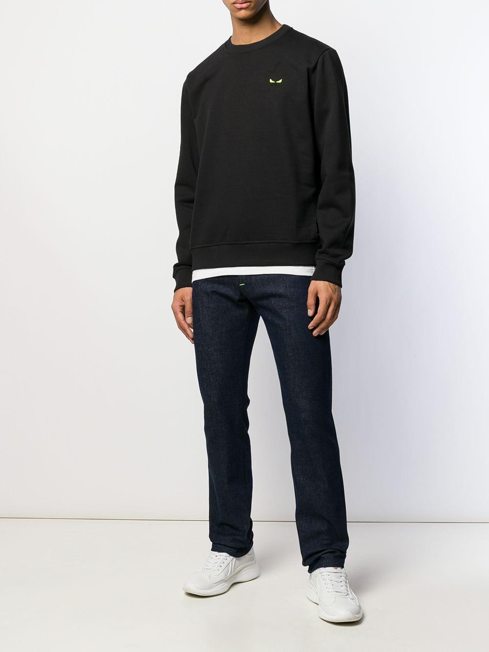 Fendi Katoen Bag Bugs Sweater in het Zwart voor heren
