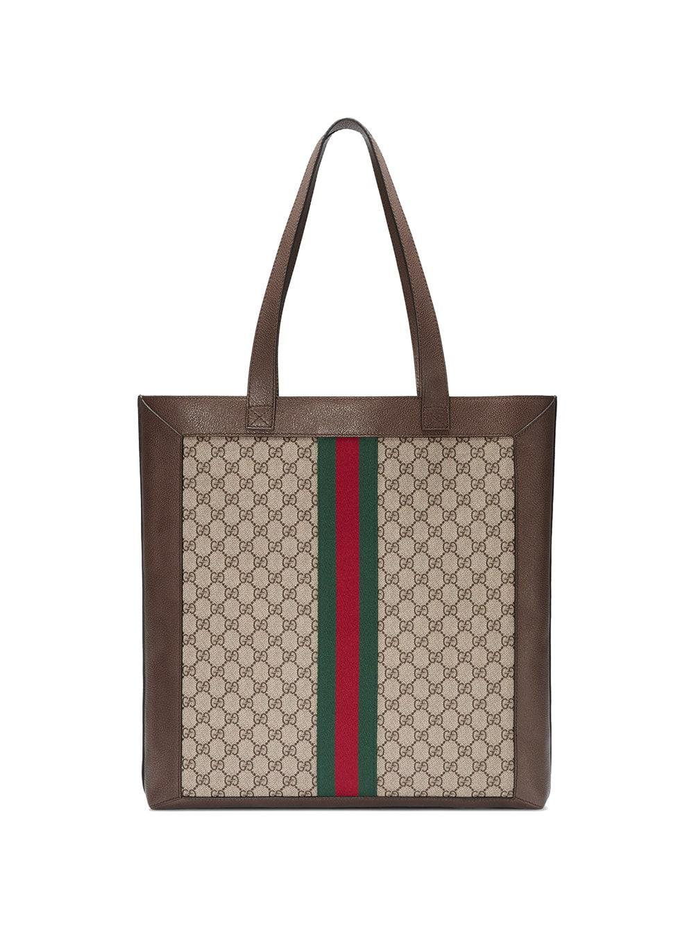 fb75d0c7e1b27f Gucci - Brown Ophidia Soft GG Supreme Large Tote - Lyst. View fullscreen