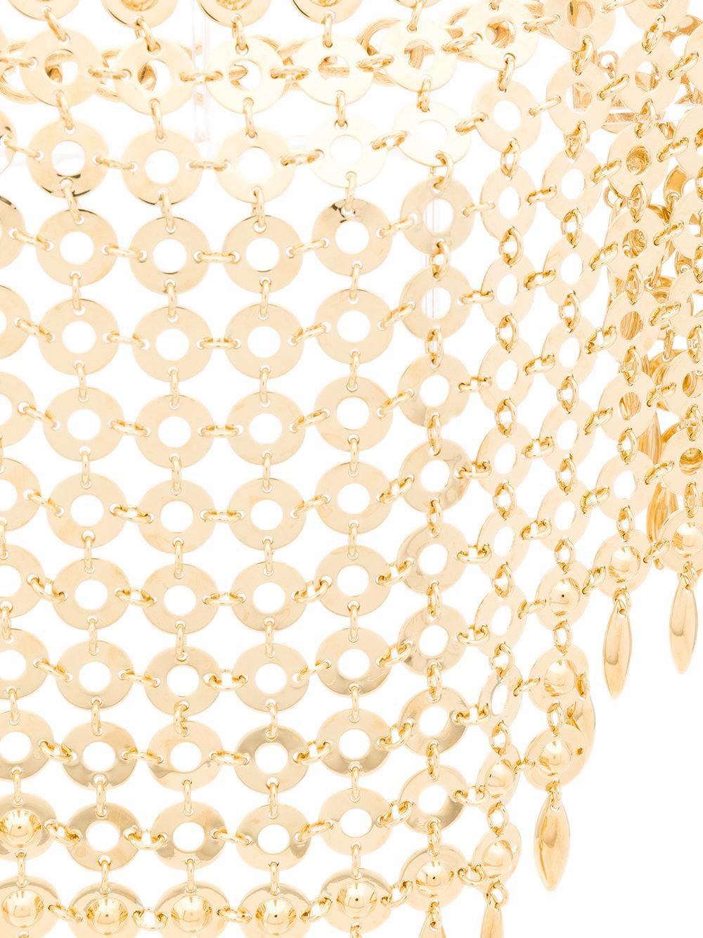 Prada Mesh Metal Bead Choker in Metallic