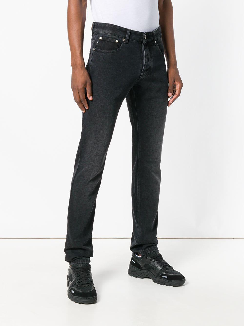 AMI Denim Fit 5 Pockets Jeans in Black for Men
