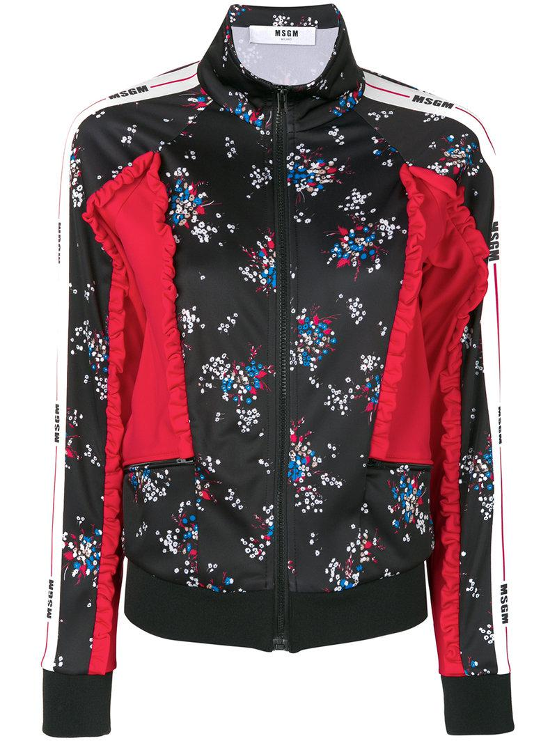 229f94f36d Lyst - Msgm Floral Print Embossed Jacket
