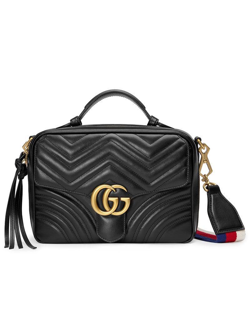 bed8fef596ba Gucci GG Marmont Matelassé Shoulder Bag in Black - Save 15% - Lyst