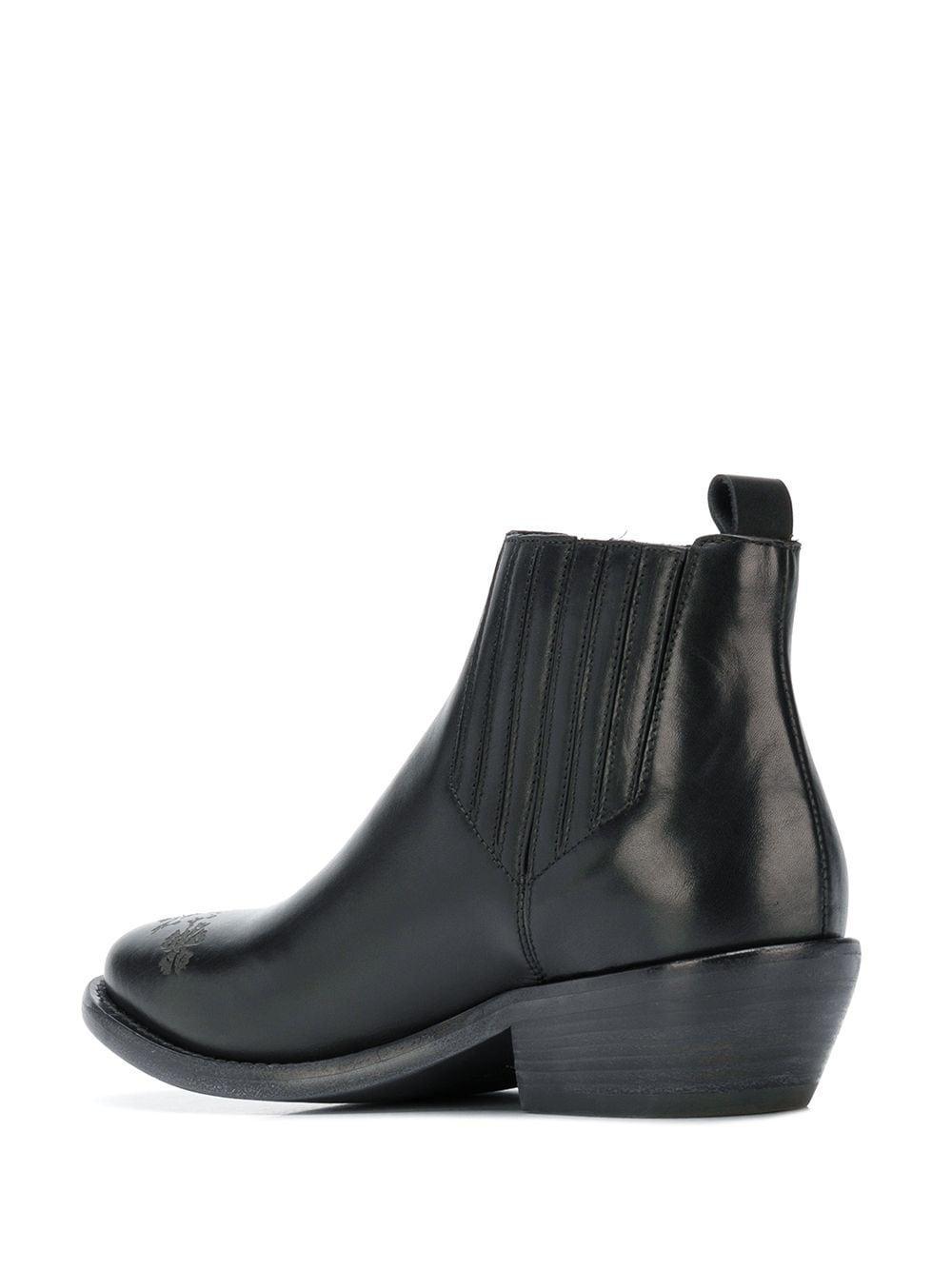 Botas de piel con detalles Etro de Cuero de color Negro