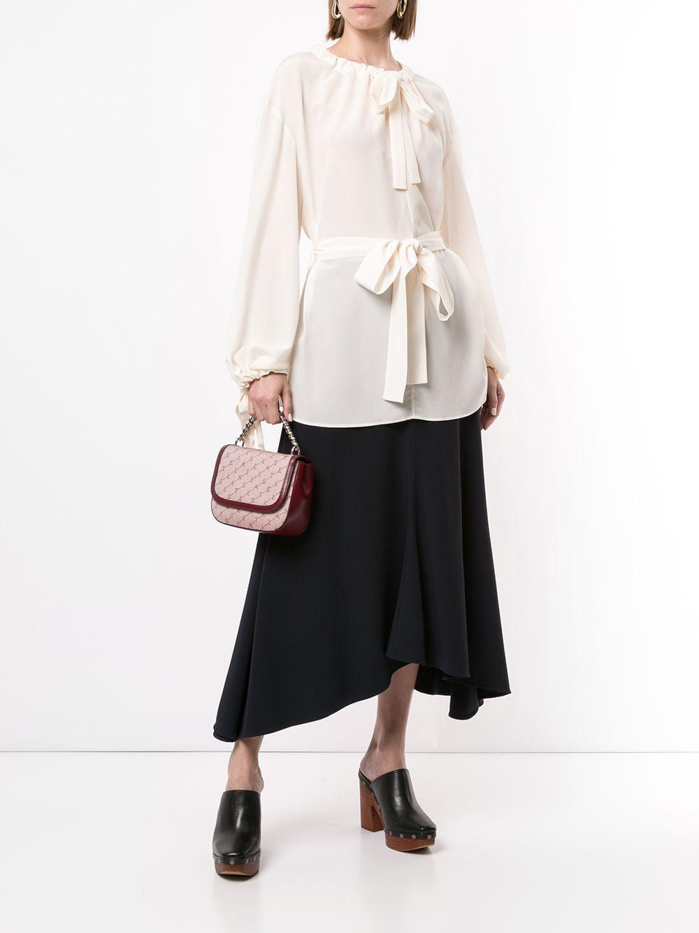 Blusa con cordones y detalle de lazo Stella McCartney de Seda de color Blanco