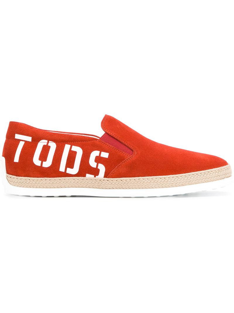 laceless logo sneakers - Yellow & Orange Tod's Factory Outlet fmImq