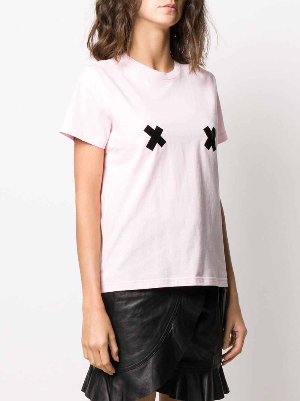 Camiseta de manga corta con detalle de cruces Marc Jacobs de Algodón de color Rosa