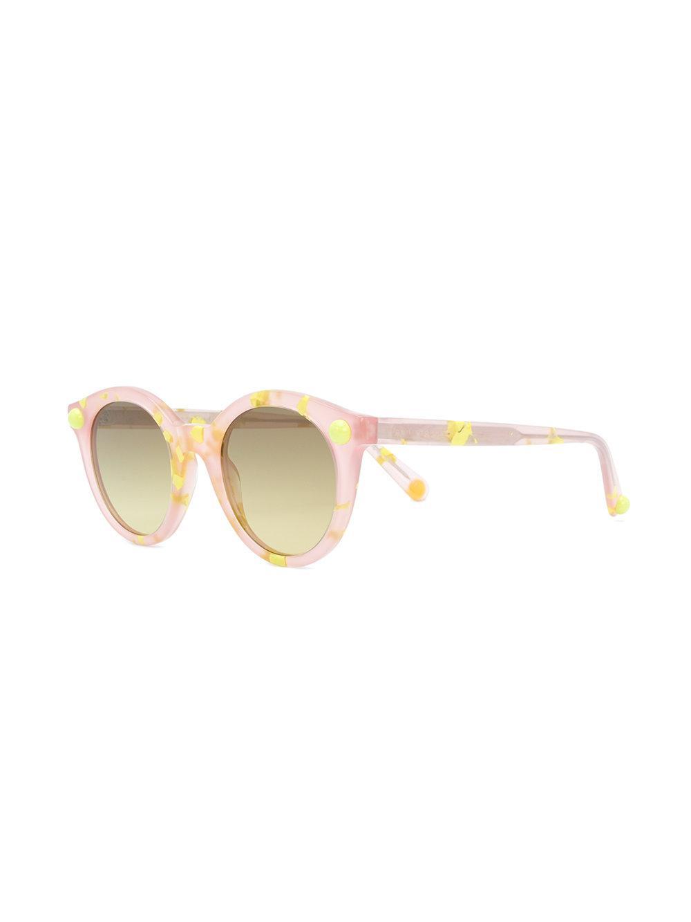 square frame speckled sunglasses - Yellow & Orange Christopher Kane Eyewear y6cHh38zP1
