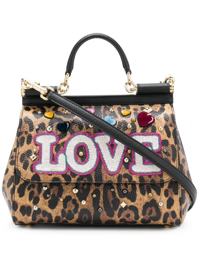 1c6d23648a0f Lyst - Dolce   Gabbana Leopard Print Sicily Bag in Brown