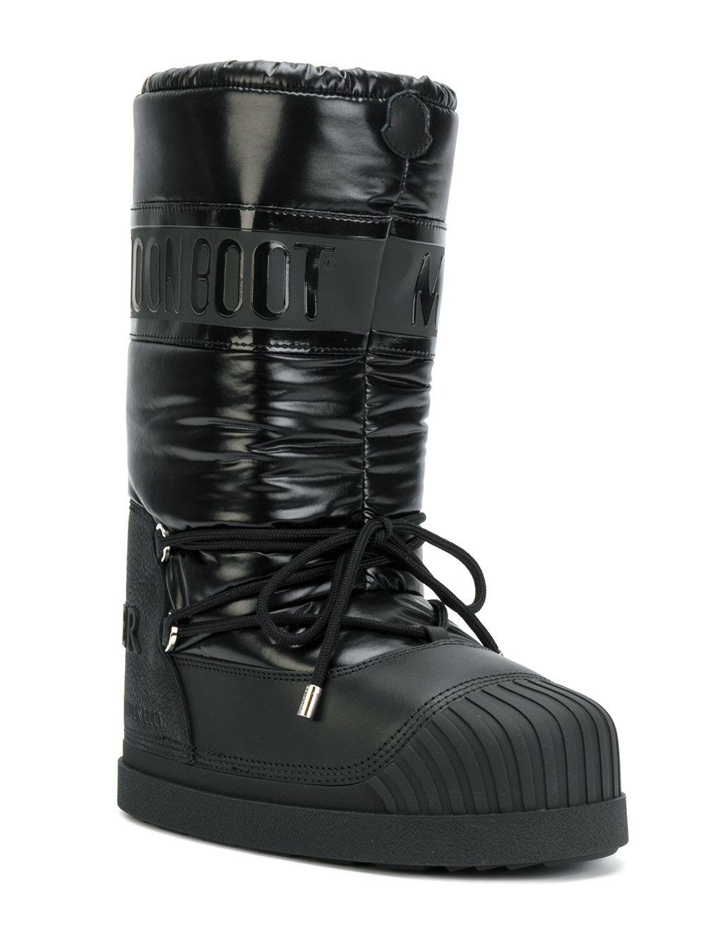 49ced49033d9 Moncler Venus Moon Boots in Black - Lyst