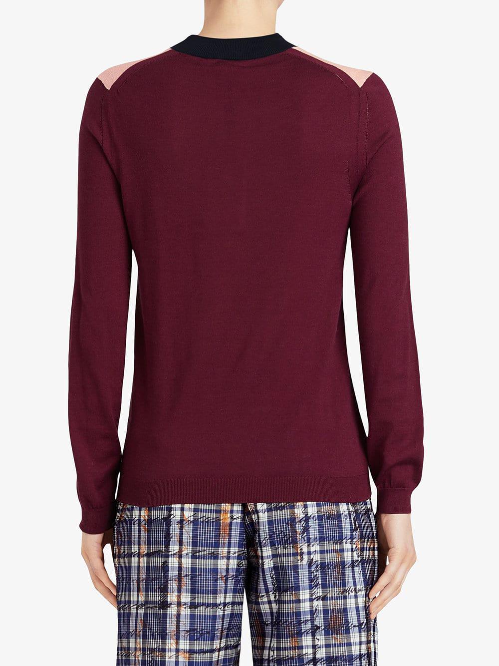 Colour View Silk Cashmere Pink Lyst Block Fullscreen Burberry Sweater A5qxSw7gRF
