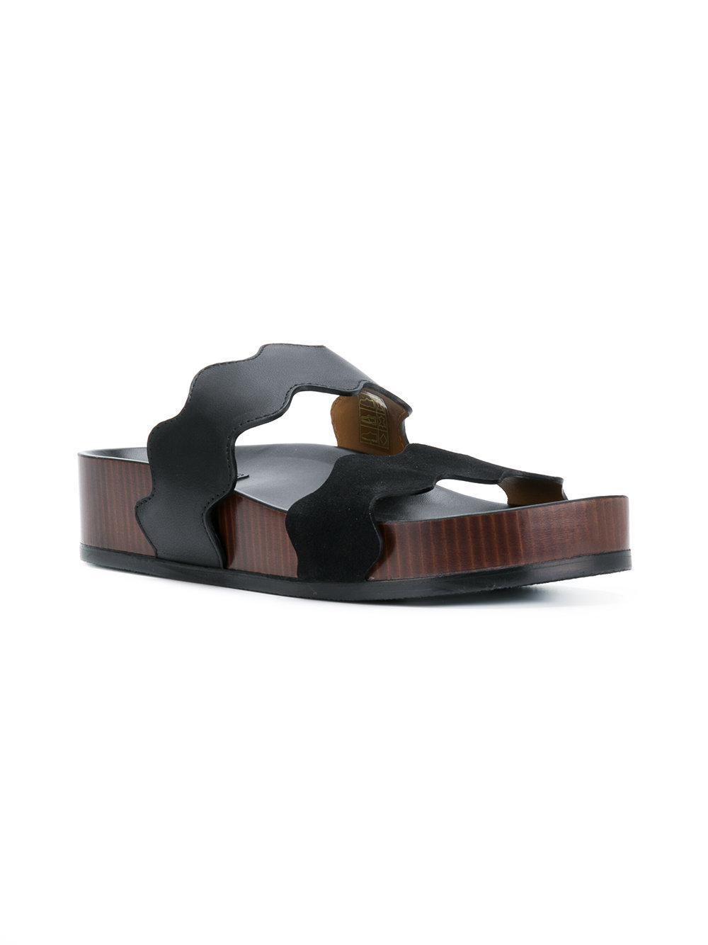 Chloé Black Lauren Sandals 6YoAlVN