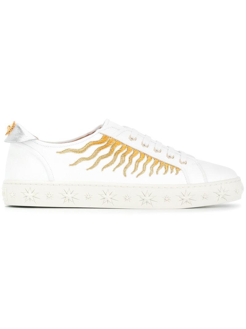 Aquazzura Sun ray embroidered sneakers