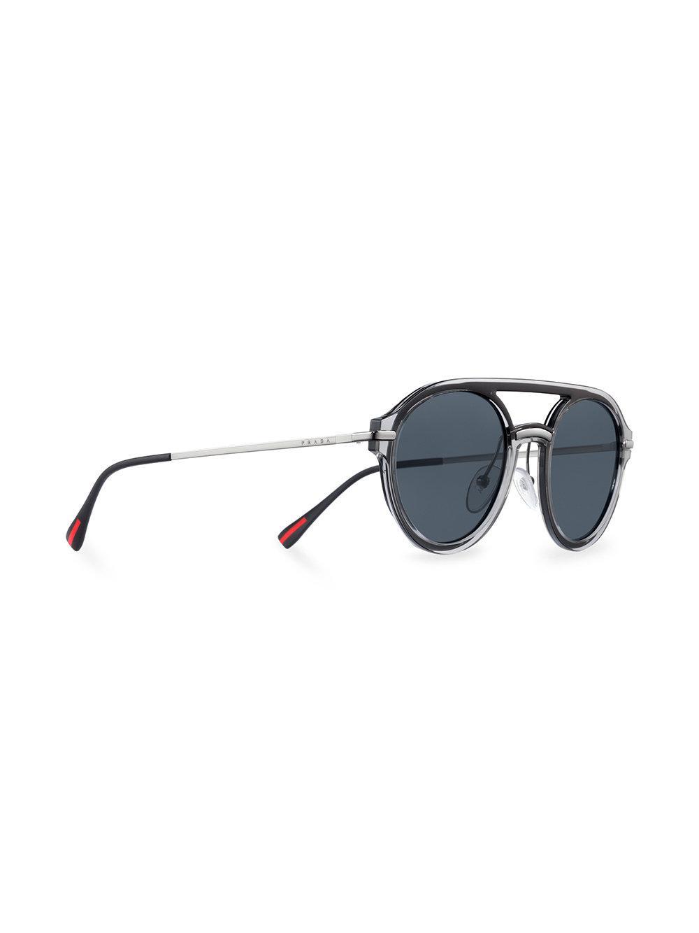 Prada Linea Rossa Spectrum Aviator Sunglasses in Black for Men