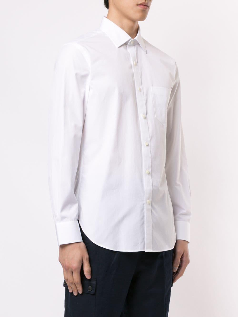Kent & Curwen Katoen Classic Getailleerd Pak in het Wit voor heren