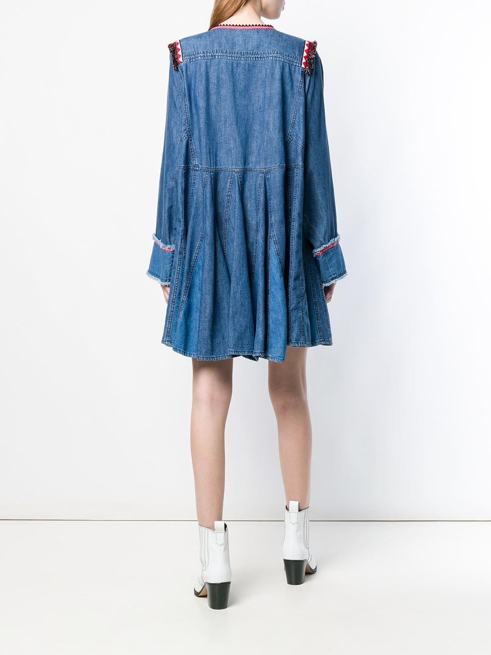 Robe à pompons Jean Philosophy Di Lorenzo Serafini en coloris Bleu - 21 % de réduction