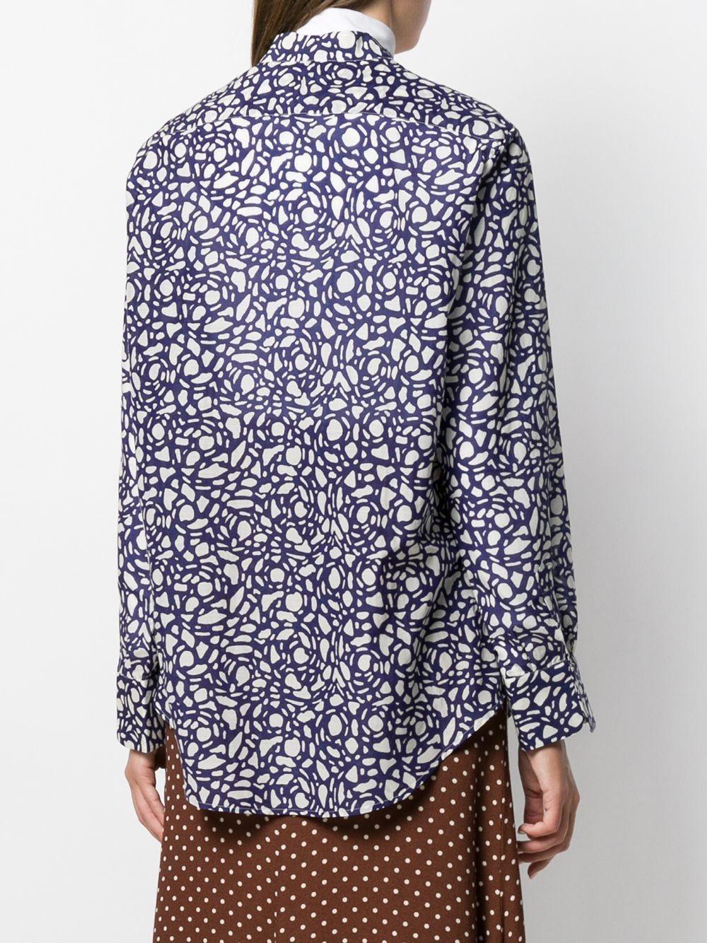 Chemise à imprimé abstrait Coton Sara Lanzi en coloris Bleu