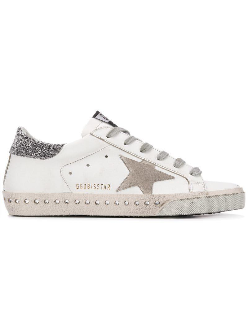 264d5d02c502 Golden Goose Deluxe Brand. Women s White Swarovski Crystal Superstar  Trainers