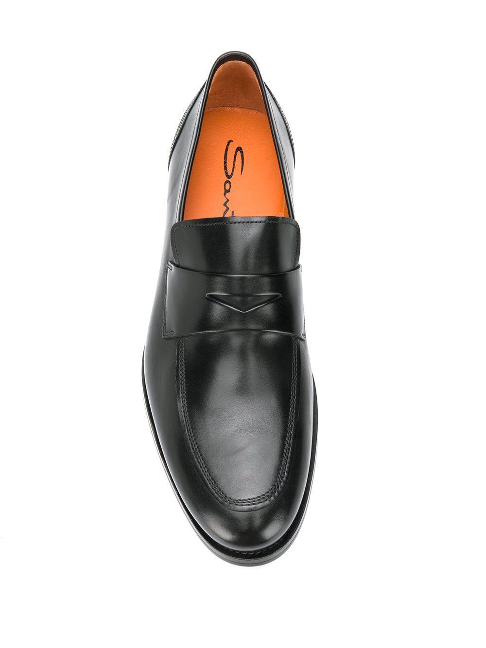 Mocasines formales Santoni de Cuero de color Negro para hombre