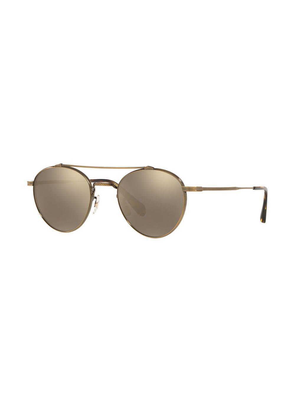 ad4d2b64de0 Oliver Peoples Watts Sun Sunglasses in Metallic for Men - Lyst