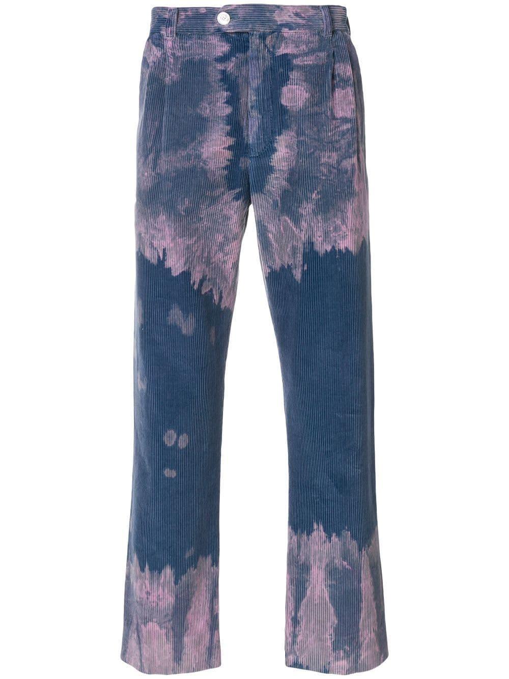 Pantalones De Pana Desmanchados Gucci De Hombre De Color Azul Lyst