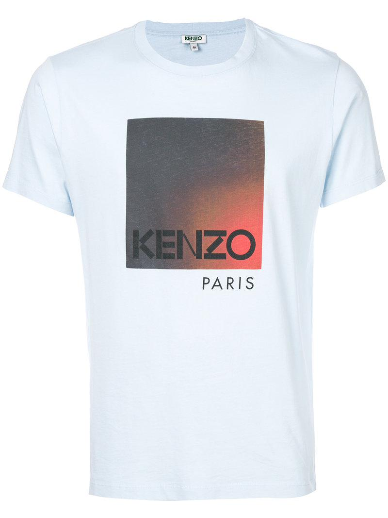 Lyst kenzo graphic printed t shirt in blue for men for Graphic t shirt printing company