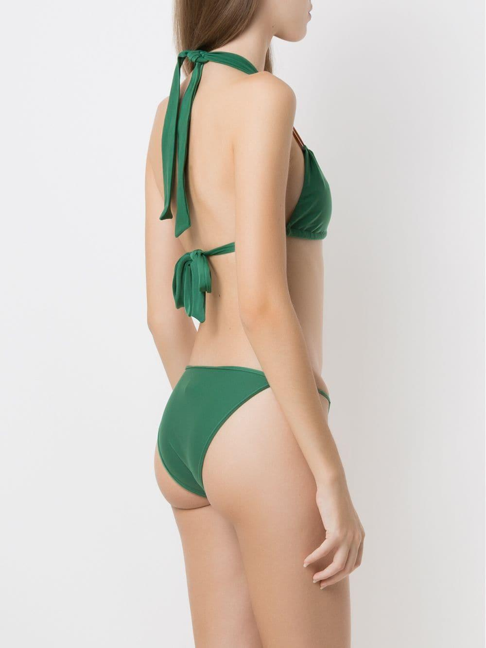Bikini con diseño de paneles Adriana Degreas de Tejido sintético de color Verde