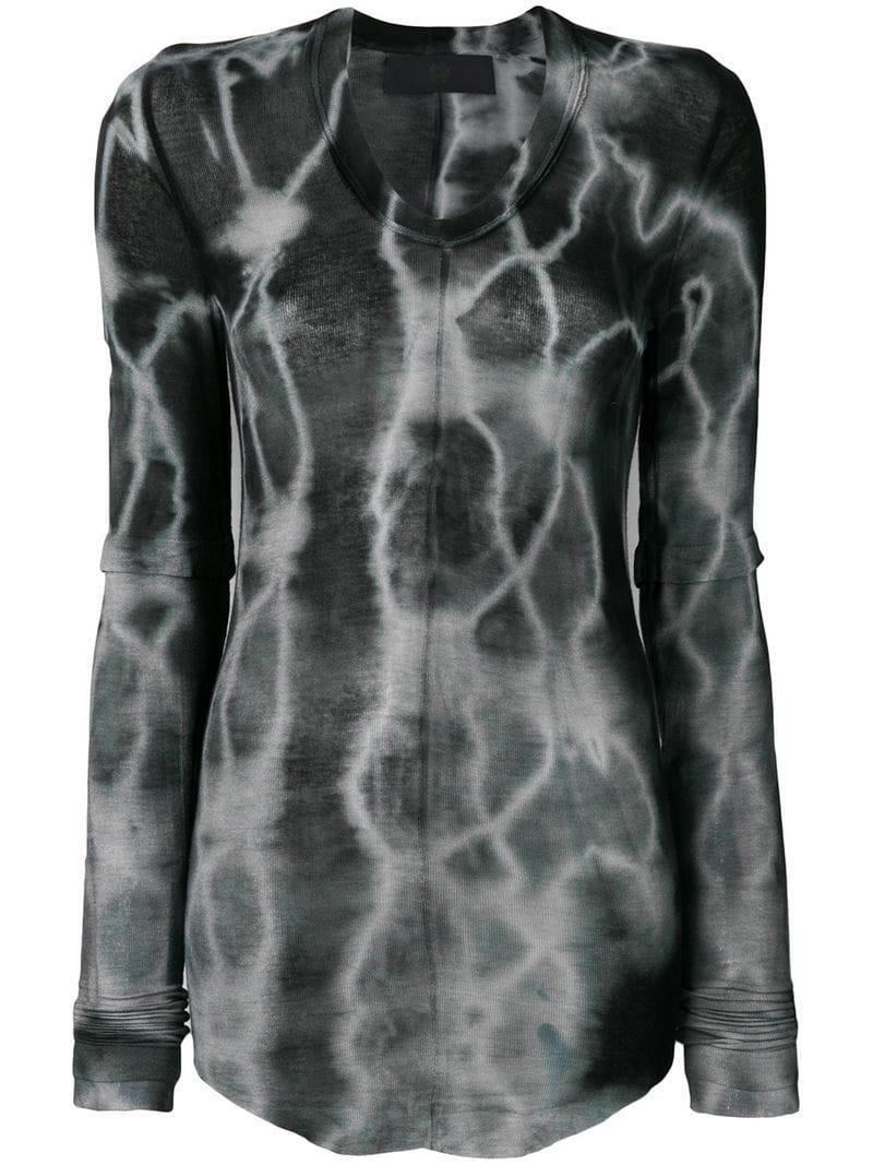 Dye Gray T Le Tie Shirt Marc Lyst Bihan Longsleeved In DH2E9I
