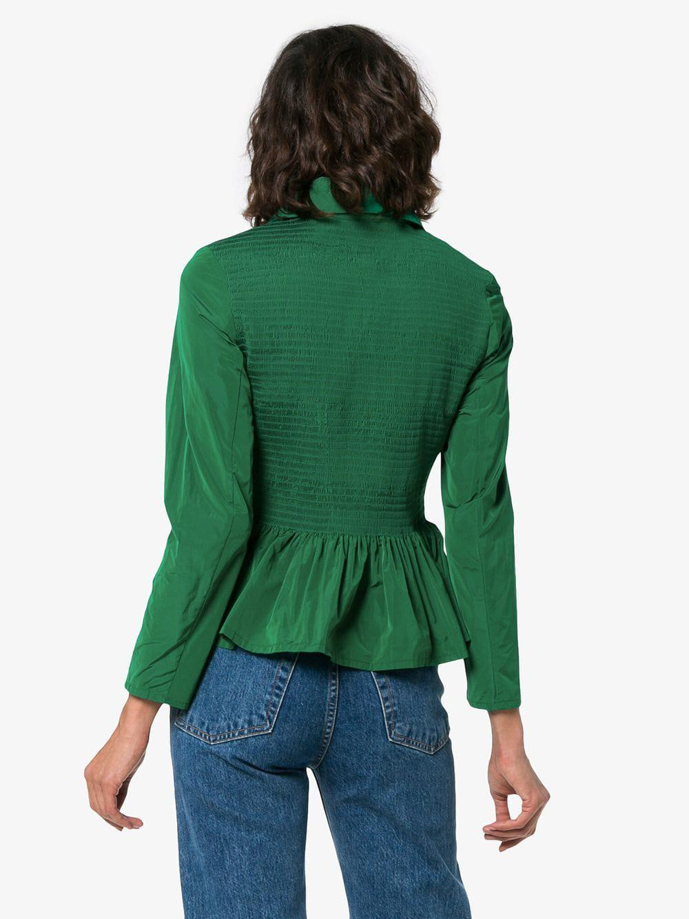Molly Hem Goddard Zip Lyst Peplum Green Fullscreen View Jacket Lillian IwIdFqrcg