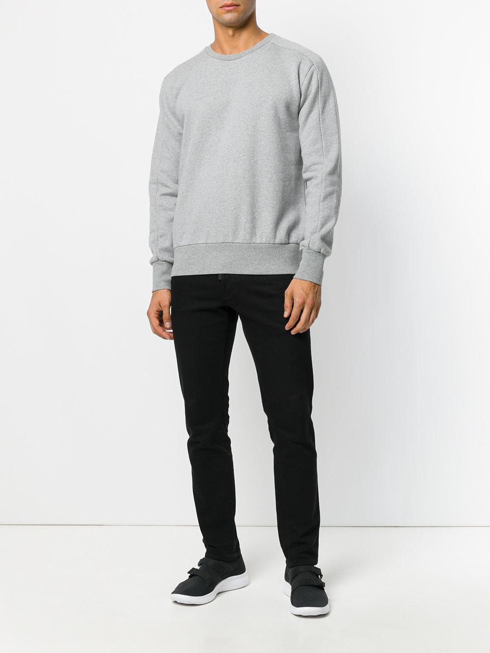 4bd75824da67 Natural Selection Linear Crewneck Sweatshirt in Gray for Men - Lyst