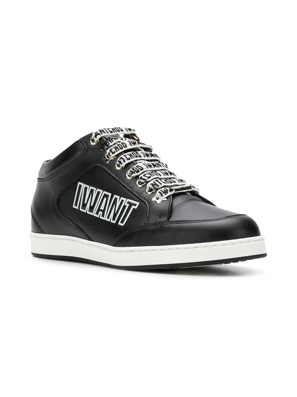 b779180e44d8 Lyst - Jimmy Choo Miami Sneakers in Black - Save 18%