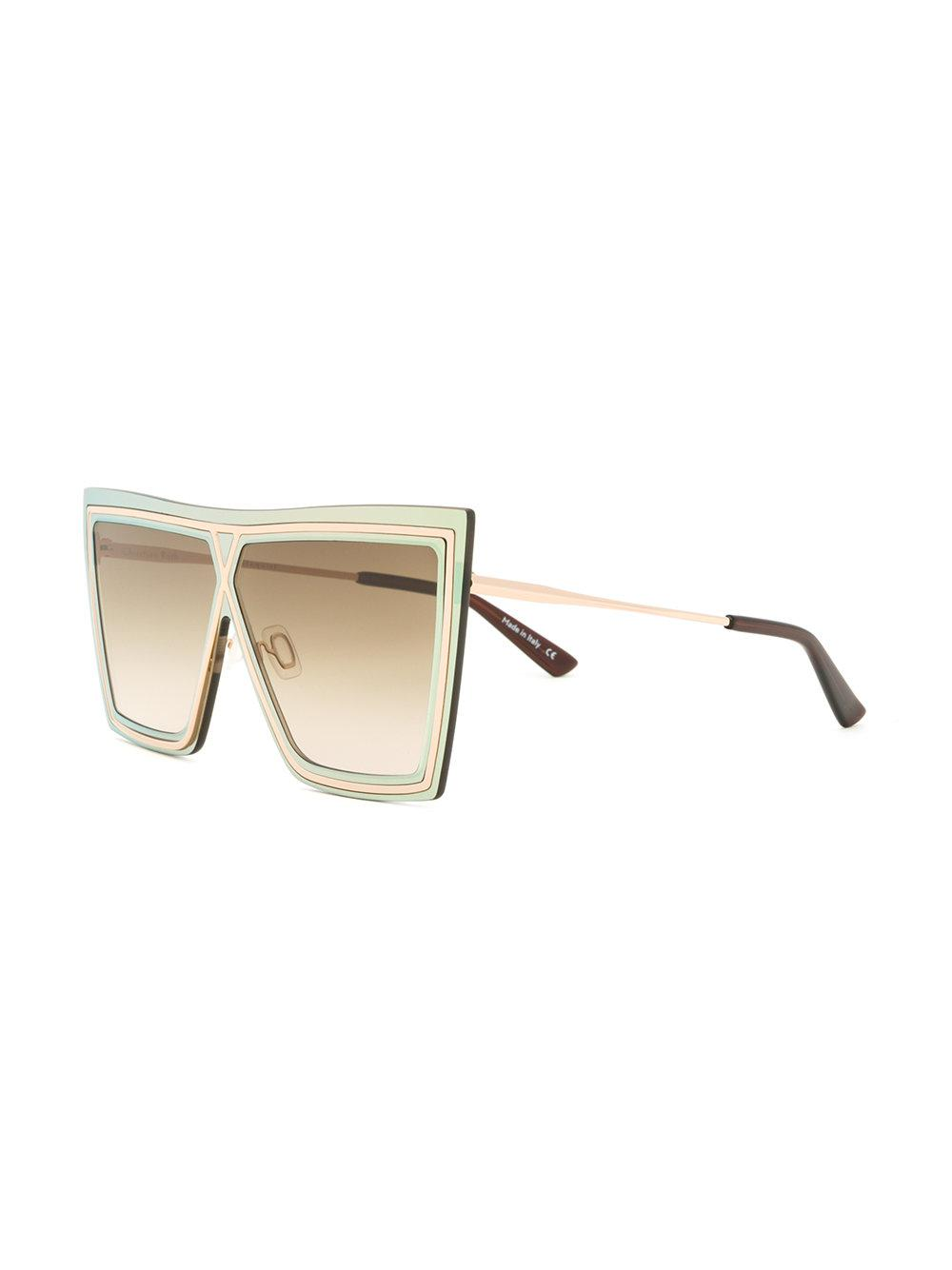 Christian Roth Ventriloquist Sunglasses in Metallic