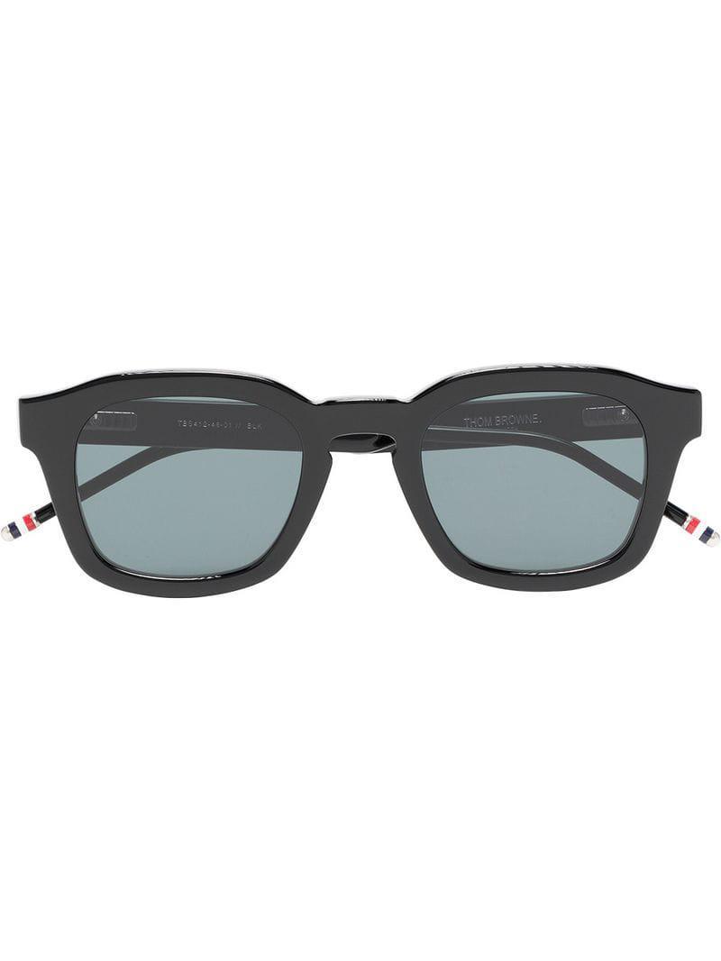 7d5adffd422e Lyst - Thom Browne Black 412 Sunglasses in Black for Men