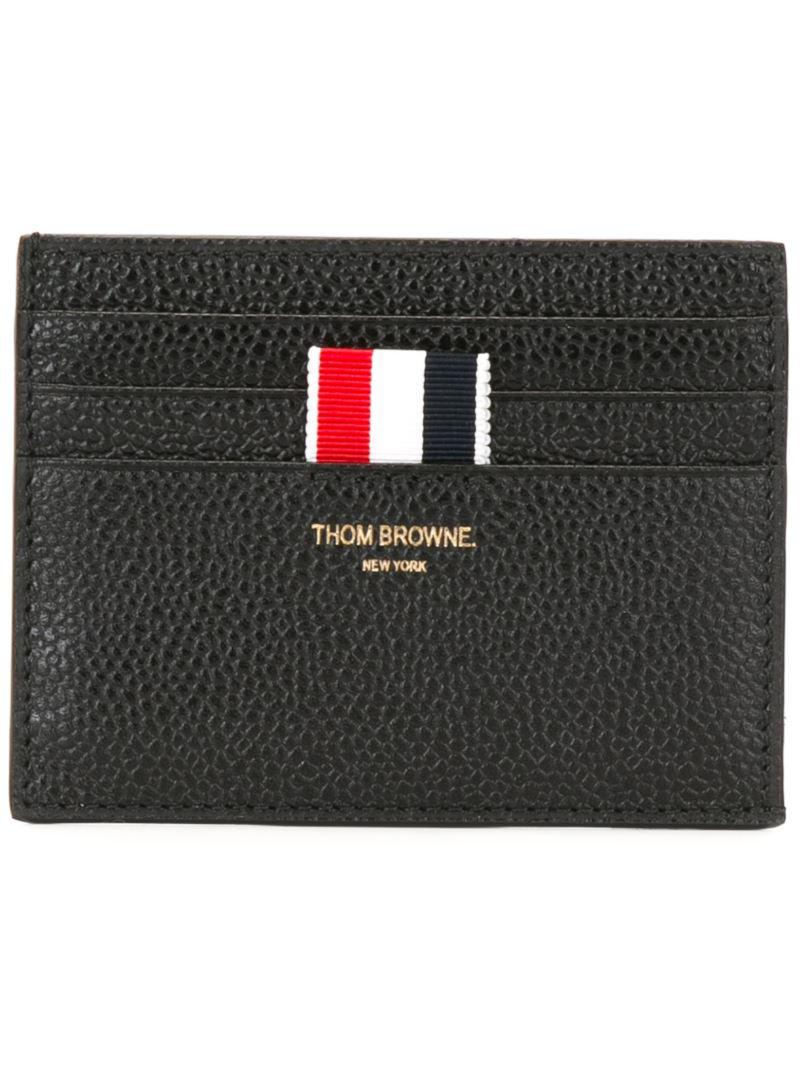 65c20762cdb Lyst - Thom Browne Striped Detailing Wallet in Black for Men - Save 40%