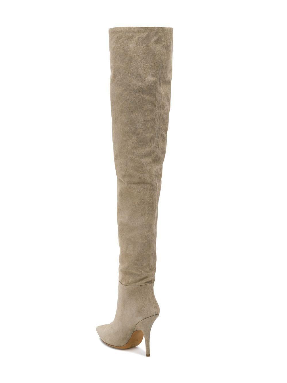 Botas de caña alta Yeezy de Cuero de color Neutro