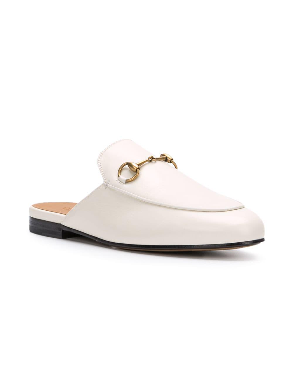 0c354b9a970 Lyst - Gucci Princetown Mules in White