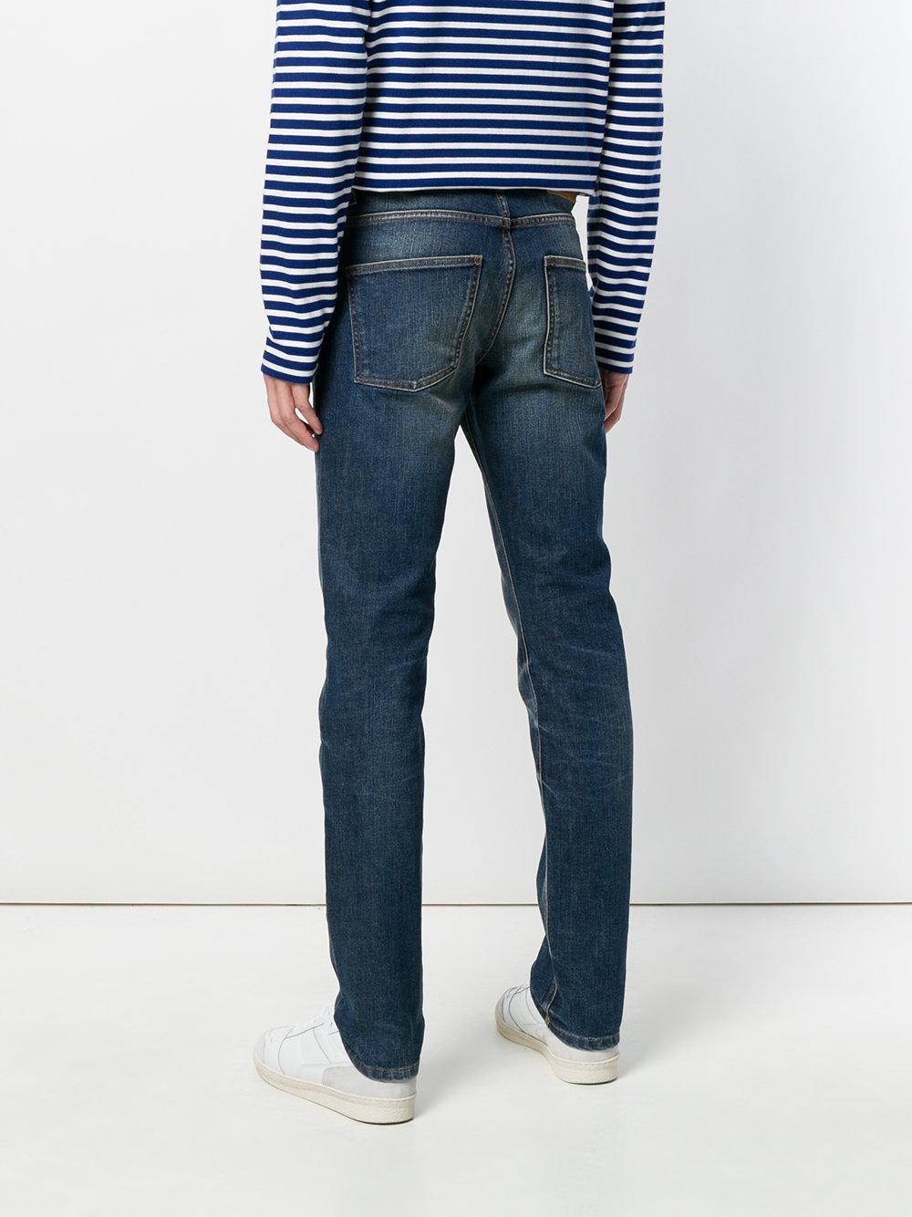 AMI Denim Slim Fit 5 Pockets Jeans in het Blauw voor heren