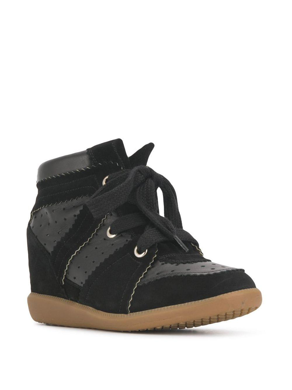 Zapatillas con cuña Isabel Marant de Cuero de color Negro