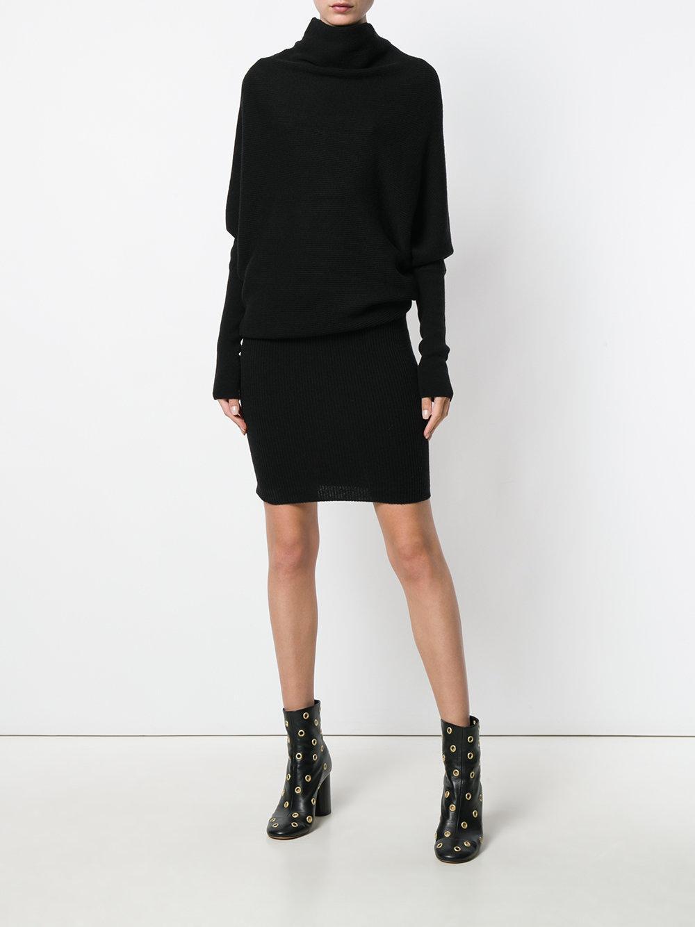 lyst allsaints loose top sweater dress in black