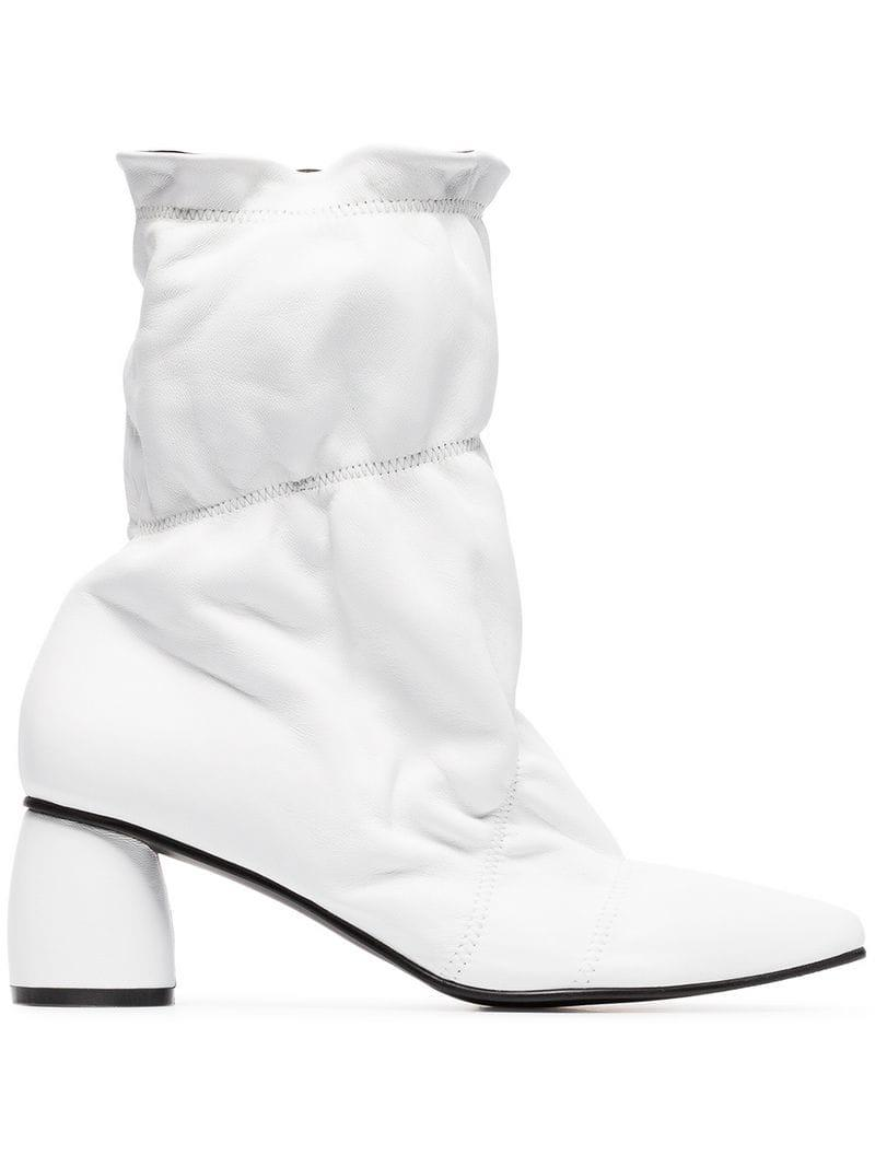 5994fc285c76 Lyst - Reike Nen 60 Parachute Leather Ankle Boots in White - Save 54%