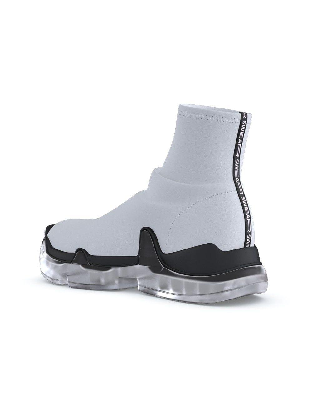 Swear Leather X Uglyworldwide Air Rev. Trigger Hi-top Sneakers in White for Men