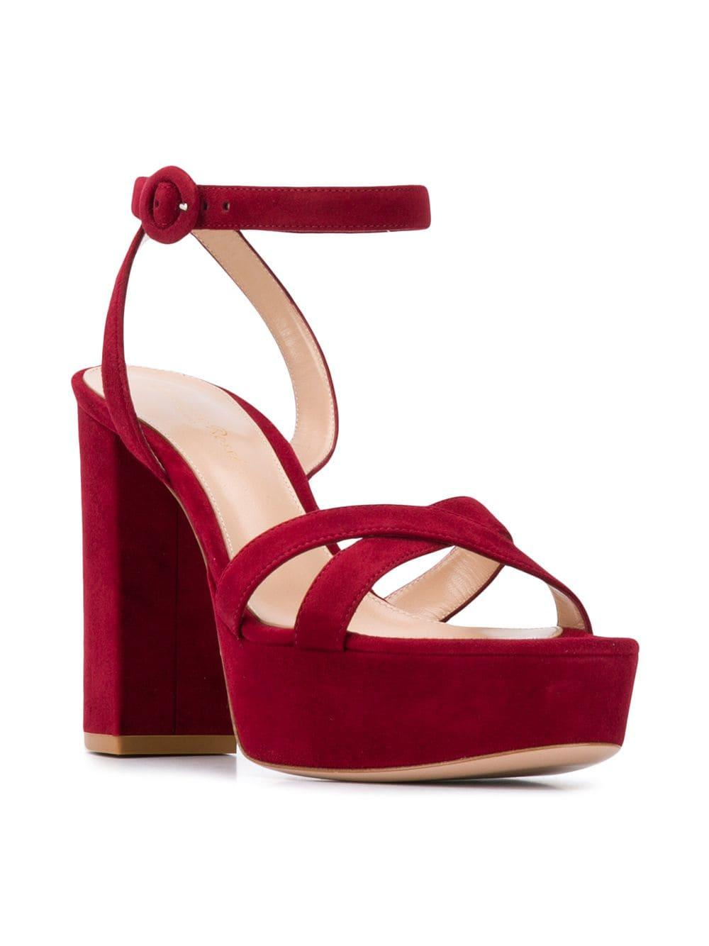 3924c5eb1c7 Lyst - Gianvito Rossi Poppy Sandals in Red - Save 45%