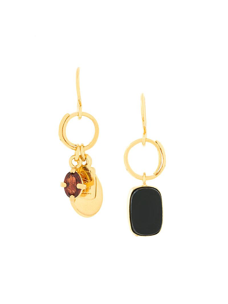 Wouters & Hendrix My Favourite butterfly and pearl mixed earrings - Metallic hEUKqaWT