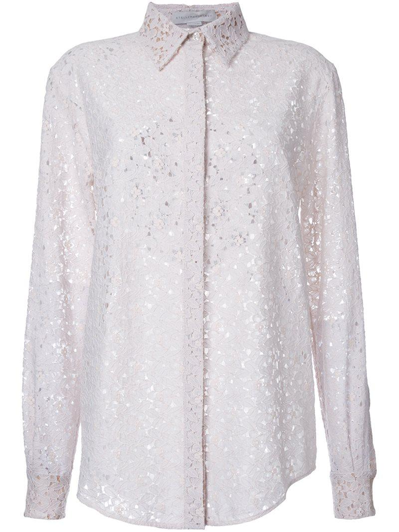 Discount For Sale Cheap Price For Sale lace trim blouse - Unavailable Stella McCartney 2018 New For Sale c9VjoLE