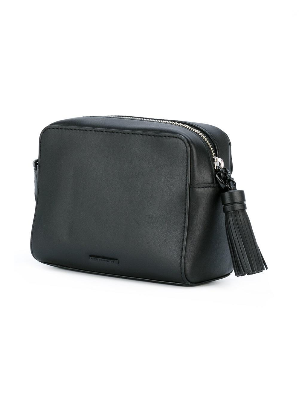 Rebecca Minkoff Leather Lobster Clasp Cross-body Bag in Black