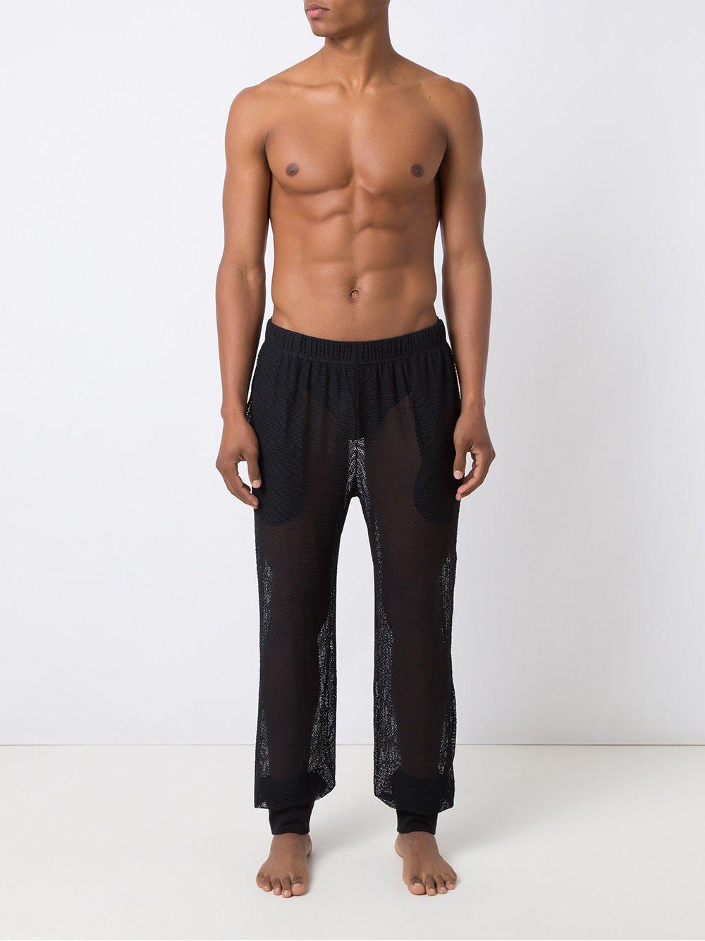 Amir Slama Mesh Trousers in Black for Men