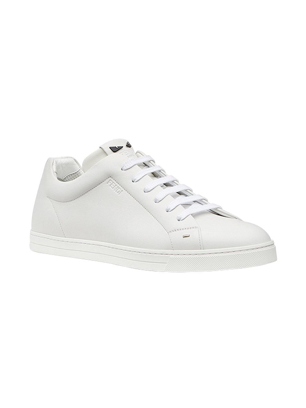3a3ac15c04ac Fendi Bag Bugs Lace-up Sneakers in White for Men - Lyst